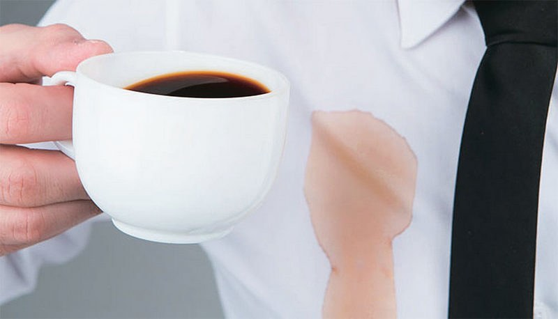 Как отстирать кофе на белом